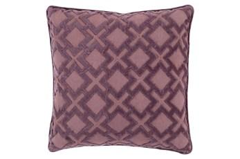 Accent Pillow-Avalon Geo Mauve/Charcoal 22X22