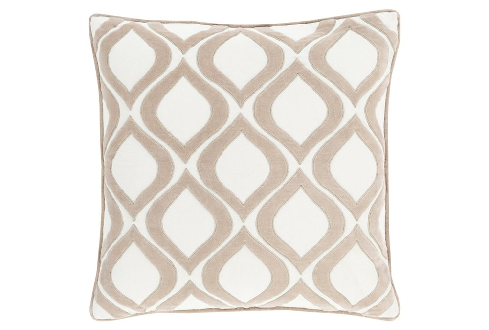 Accent Pillow-Abbott Geo Ivory 22X22