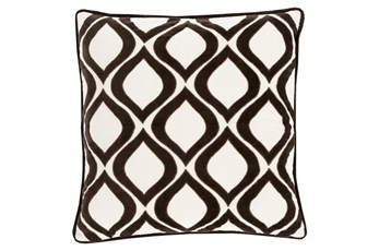 Accent Pillow-Abbott Geo Ivory/Black 22X22