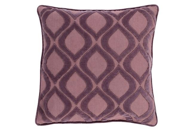 Accent Pillow-Abbott Geo Charcoal/Mauve 22X22 - 360