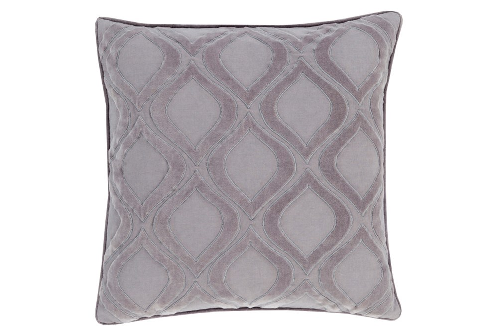 Accent Pillow-Abbott Geo Charcoal Grey 22X22
