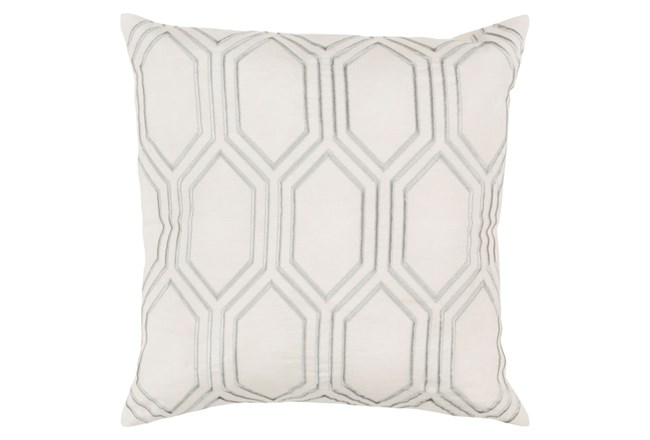 Accent Pillow-Natalie Geo Ivory/Light Grey 18X18 - 360