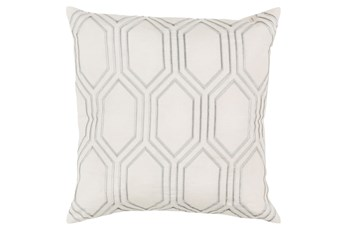 Accent Pillow-Natalie Geo Ivory/Light Grey 20X20