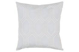 Accent Pillow-Natalie Geo Light Grey/Beige 20X20