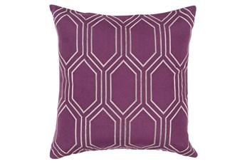 Accent Pillow-Natalie Geo Eggplant/Light Grey 18X18