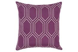 Accent Pillow-Natalie Geo Eggplant/Light Grey 20X20