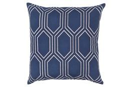 Accent Pillow-Natalie Geo Cobalt/Light Grey 18X18