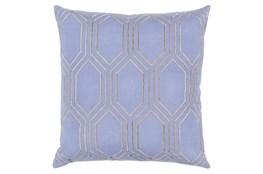 Accent Pillow-Natalie Geo Sky Blue/Light Grey 18X18