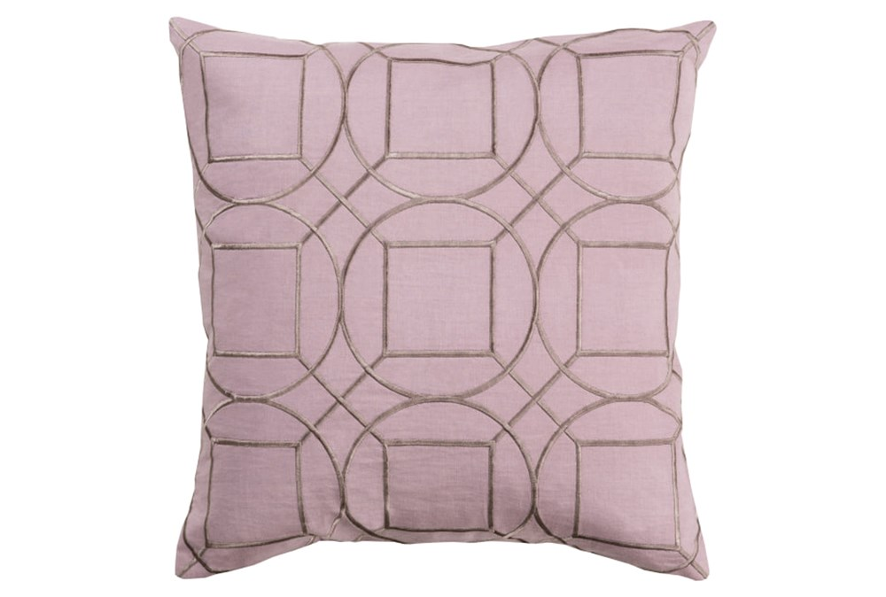 Accent Pillow-Nessa Geo Mauve/Light Grey 18X18