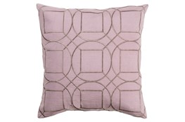 Accent Pillow-Nessa Geo Mauve/Light Grey 18X18