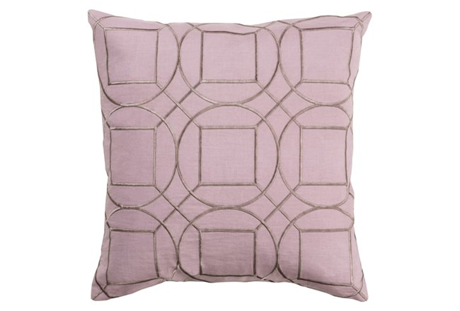 Accent Pillow-Nessa Geo Mauve/Light Grey 18X18 - 360