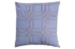 Accent Pillow-Nessa Geo Sky Blue/Light Grey 18X18