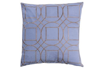 Accent Pillow-Nessa Geo Sky Blue/Light Grey 18X18