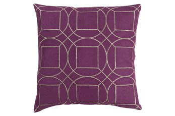 Accent Pillow-Nessa Geo Eggplant/Light Grey 20X20