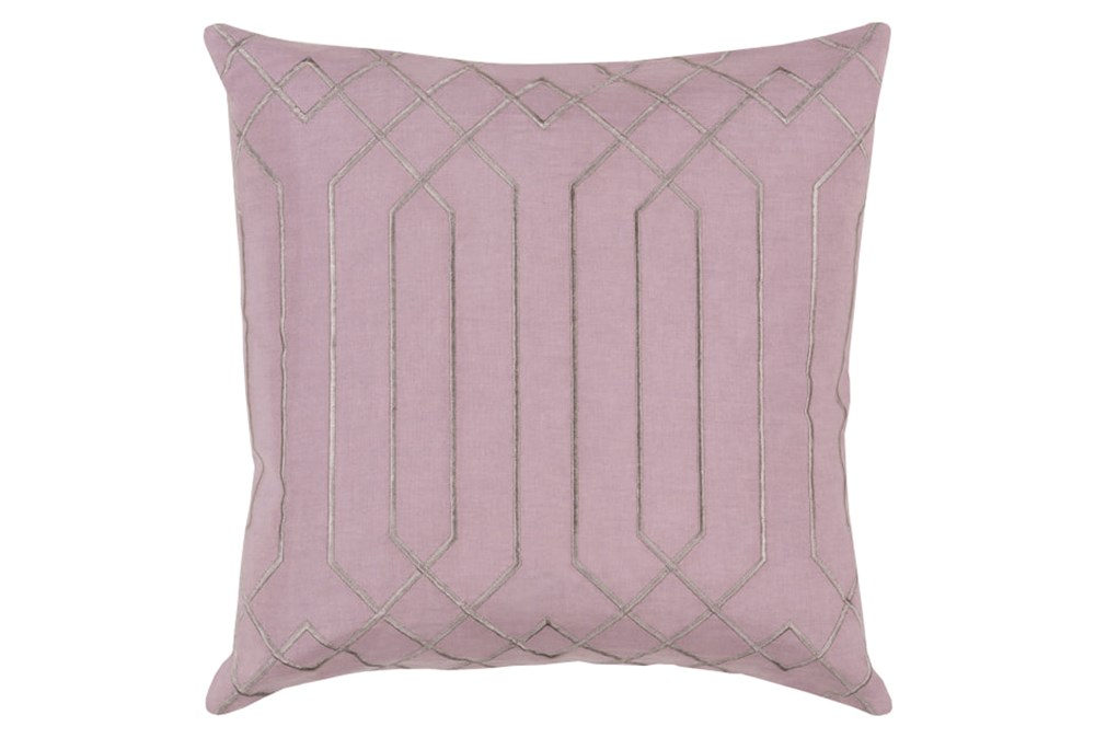 Accent Pillow-Noel Geo Mauve/Light Grey 18X18