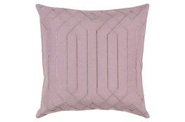 Accent Pillow-Noel Geo Mauve/Light Grey 18X18
