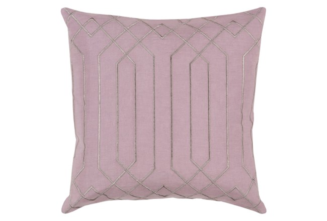 Accent Pillow-Noel Geo Mauve/Light Grey 18X18 - 360