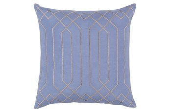 Accent Pillow-Noel Geo Sky Blue/Light Grey 20X20