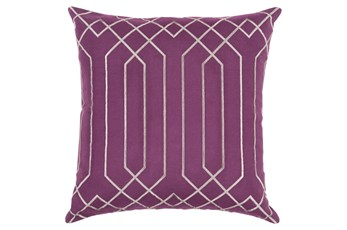 Accent Pillow-Noel Geo Eggplant/Light Grey 20X20