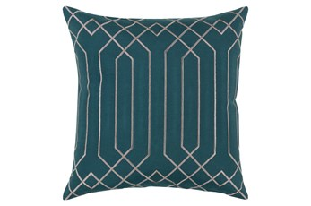 Accent Pillow-Noel Geo Teal/Light Grey 20X20