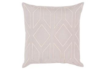 Accent Pillow-Nora Geo Light Grey/Beige 22X22
