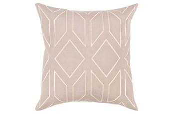 Accent Pillow-Nora Geo Grey/Beige 22X22
