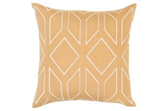 Accent Pillow-Nora Geo Gold/Beige 18X18