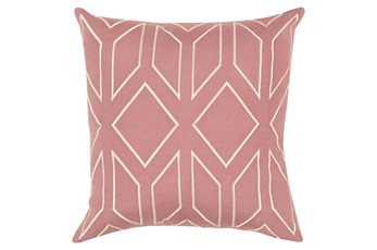 Accent Pillow-Nora Geo Rose/Beige 18X18