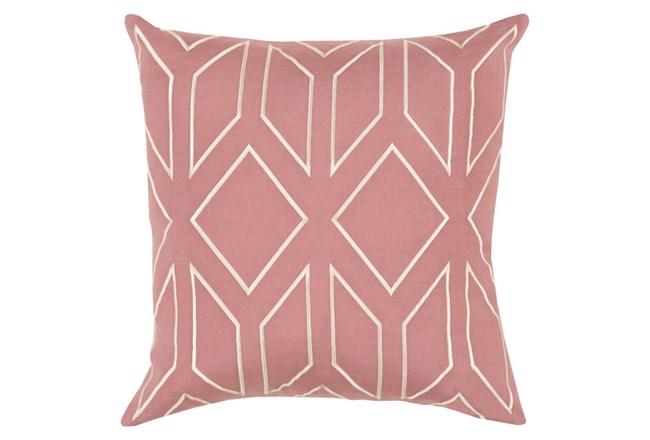 Accent Pillow-Nora Geo Rose/Beige 18X18 - 360