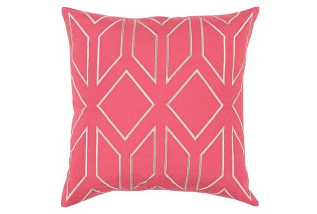 Accent Pillow-Nora Geo Carnation/Light Grey 18X18 - 360