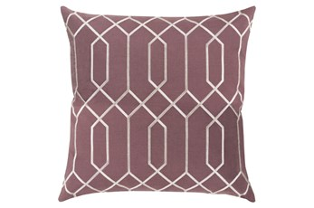 Accent Pillow-Nicee Geo Eggplant/Ivory 20X20