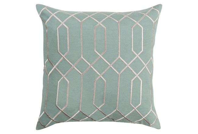 Accent Pillow-Nicee Geo Moss/Light Grey 18X18 - 360