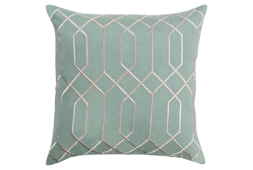 Accent Pillow-Nicee Geo Moss/Light Grey 20X20