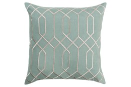 Accent Pillow-Nicee Geo Moss/Light Grey 20X20