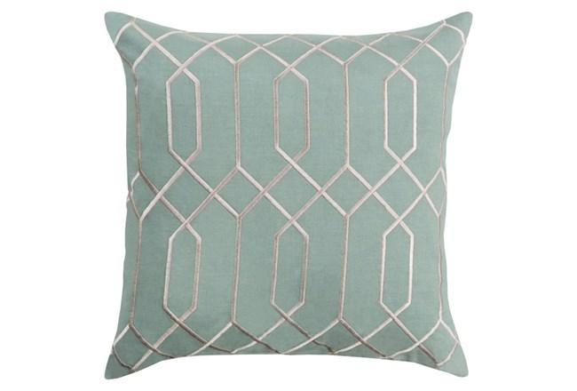 Accent Pillow-Nicee Geo Moss/Light Grey 20X20 - 360