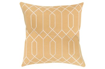 Accent Pillow-Nicee Geo Gold/Beige18X18