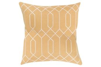 Accent Pillow-Nicee Geo Gold/Beige 20X20