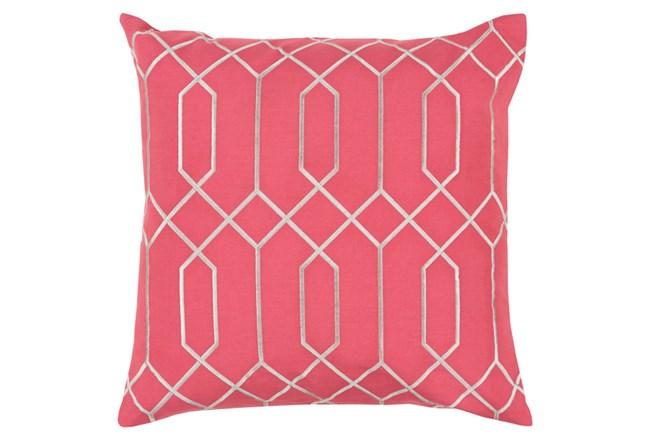 Accent Pillow-Nicee Geo Carnation/Light Grey 20X20 - 360