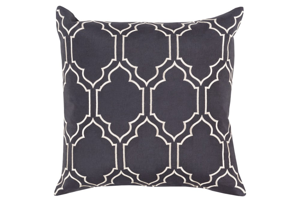 Accent Pillow-Norinne Geo Slate/Light Grey 20X20