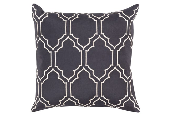Accent Pillow-Norinne Geo Slate/Light Grey 20X20 - 360
