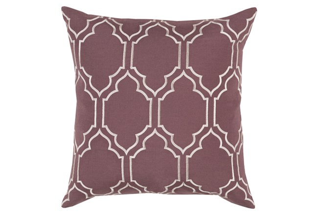 Accent Pillow-Norinne Geo Mauve/Light Grey 18X18 - 360