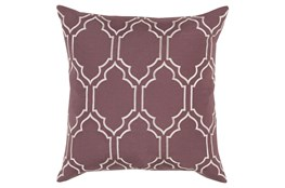 Accent Pillow-Norinne Geo Mauve/Light Grey 20X20