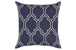 Accent Pillow-Norinne Geo Navy/Light Grey 18X18