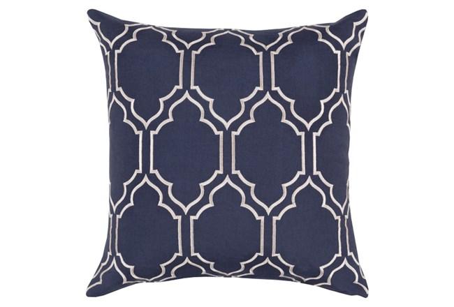 Accent Pillow-Norinne Geo Navy/Light Grey 18X18 - 360