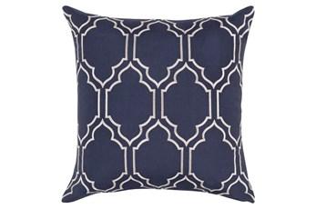 Accent Pillow-Norinne Geo Navy/Light Grey 20X20