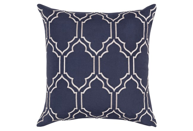 Accent Pillow-Norinne Geo Navy/Light Grey 20X20 - 360
