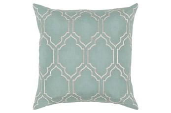 Accent Pillow-Norinne Geo Moss/Light Grey 18X18