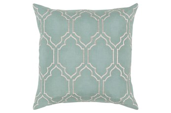 Accent Pillow-Norinne Geo Moss/Light Grey 20X20