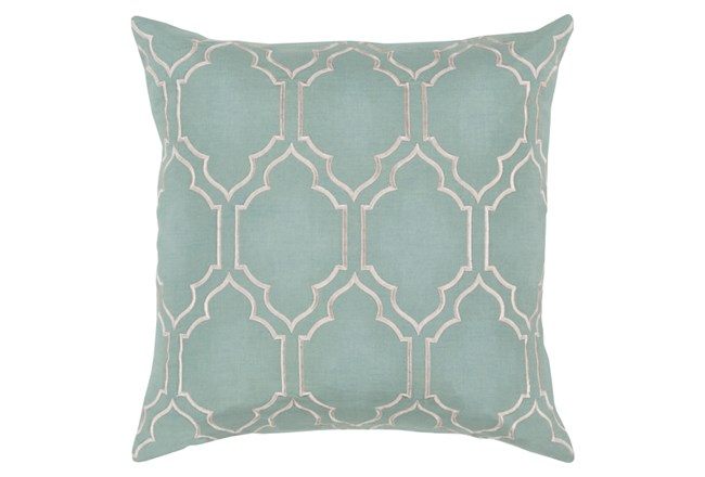 Accent Pillow-Norinne Geo Moss/Light Grey 20X20 - 360