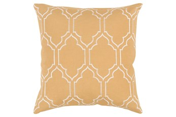 Accent Pillow-Norinne Geo Gold/Beige 18X18